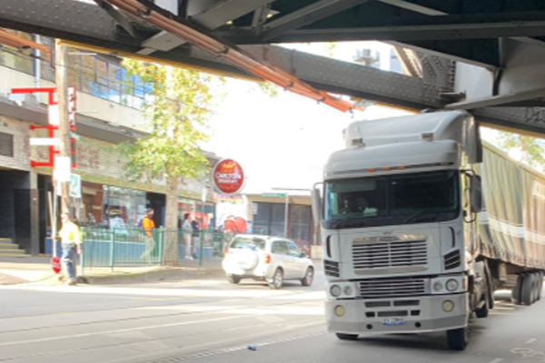 Article image for Truck spills beer after smashing into bridge outside iconic pub