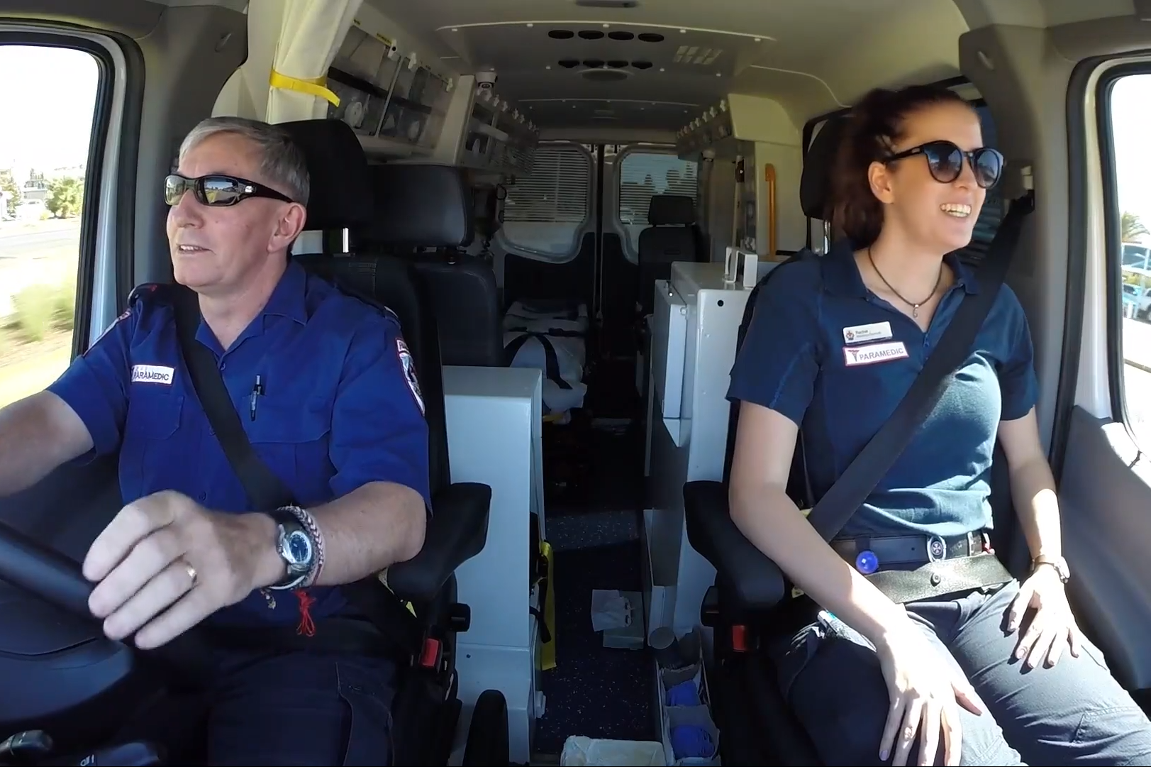 Article image for Paramedics say thank you to Victorians with touching video