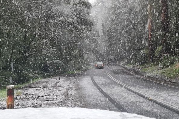 Article image for Spring snow: Victoria's west blanketed in white as icy blast sweeps state