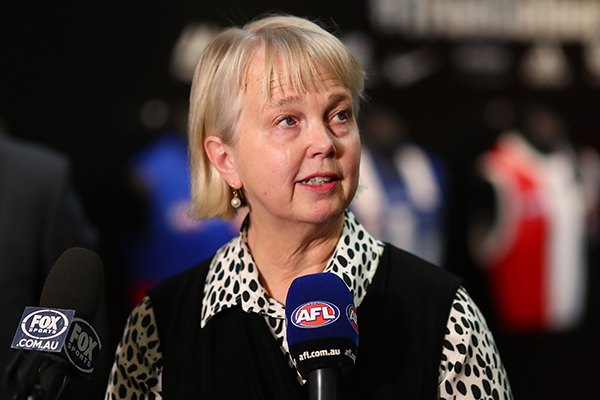 Article image for Richmond president Peggy O'Neal isn't a fan of night grand finals