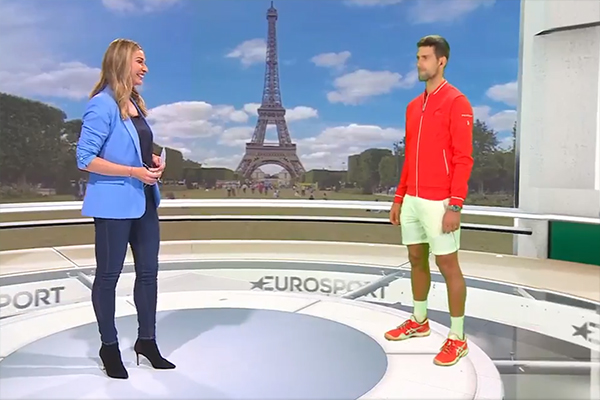 Article image for The futuristic way a European sports network is doing virtual interviews