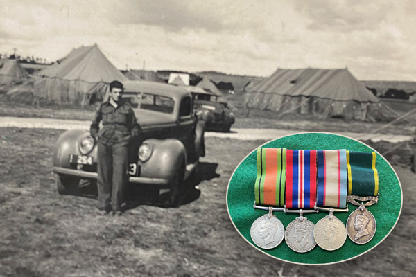 Article image for How an eagle-eyed Sergeant returned war medals missing for more than 50 years