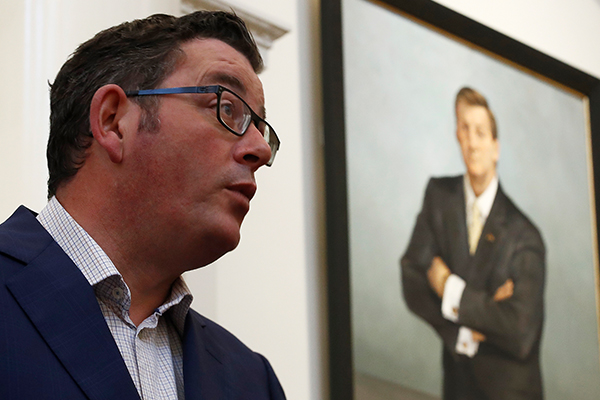 Article image for Dan Andrews bites back at Jeff Kennett's Hawthorn funding claim
