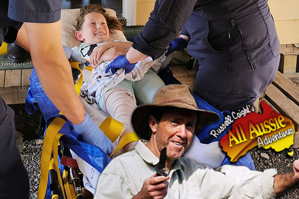 Article image for How Russell Coight helped young Grace survive a snake bite!