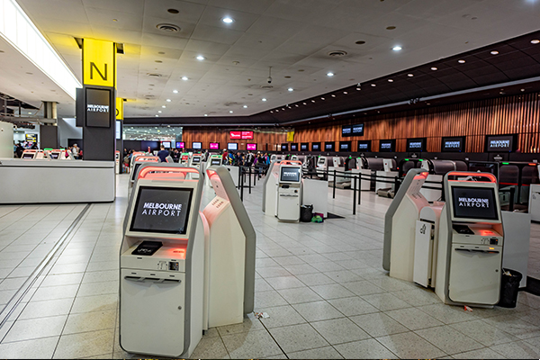 Article image for Melbourne Airport springs back to life as NSW border reopens