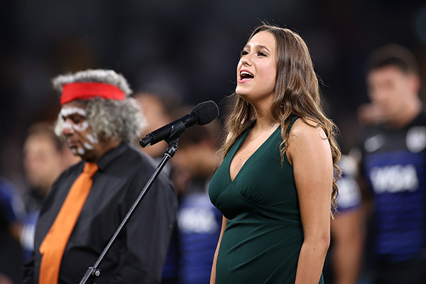 Article image for Indigenous language national anthem rendition sparks debate