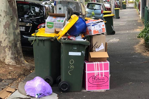 Article image for Councillor demands action over recent recycling bin troubles