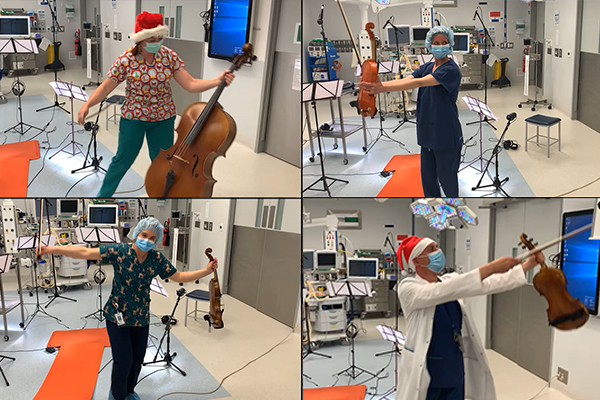 Article image for Scrub choir: More than 450 hospital staff perform their take on a Christmas classic