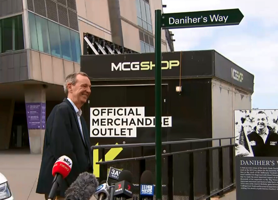 Article image for 'A special place': Iconic walkway renamed in honour of Neale Daniher