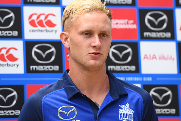 Article image for Why North Melbourne is holding high hopes for Jaidyn Stephenson