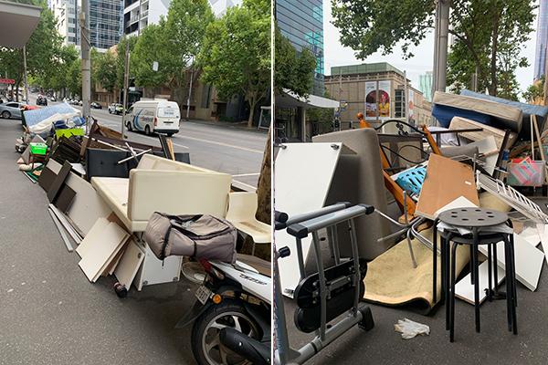 Article image for Melbourne eyesore: CBD street 'looks like a tip'