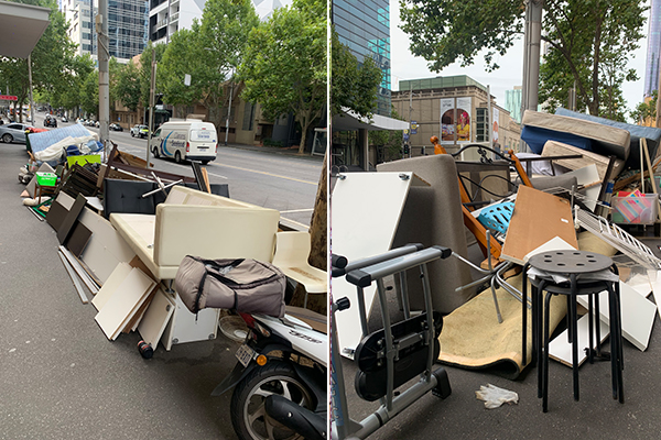 Article image for Melbourne eyesore: CBD street 'looks like a tip'