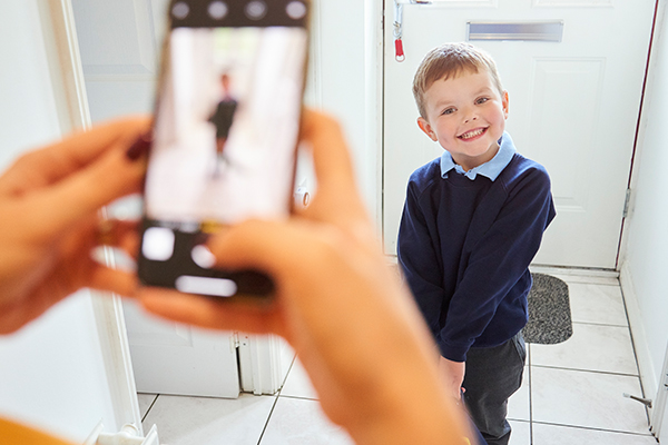 Article image for Why you shouldn't post pictures of your child on their first day of school
