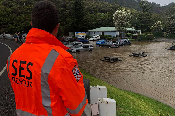 Flood waters cause chaos for holidaymakers