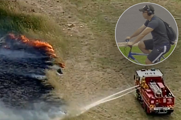 Article image for Police search for answers after Taylors Lakes grassfire declared suspicious
