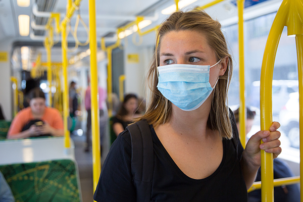 Article image for Mask compliance falling on Melbourne's public transport network