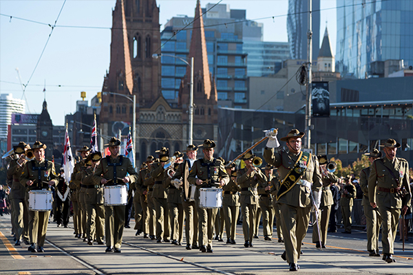 Article image for Victorian Veterans Minister 'very hopeful' CBD Anzac Day march will go ahead