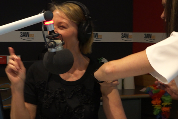 Article image for Dee Dee Dunleavy gets the flu jab live on-air at 3AW!