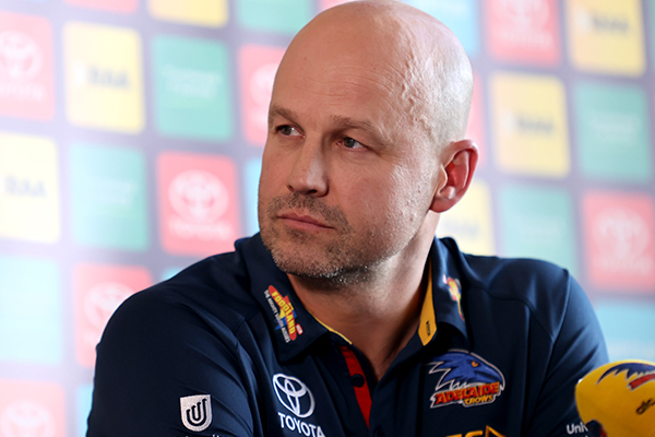 Article image for Adelaide coach Matthew Nicks addresses Taylor Walker's future