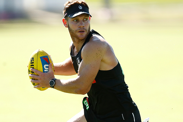 Article image for Collingwood star says clash with Carlton is not 'do-or-die' for the Pies, despite alarming statistic