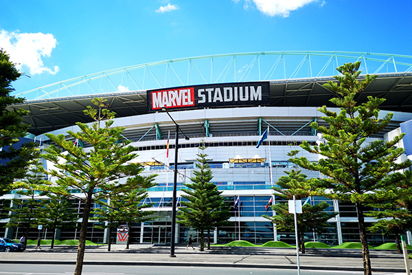 Article image for AFL clarifies rules around standing at Marvel Stadium