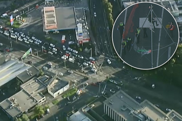 Article image for Climate protesters cause peak hour chaos on the West Gate Freeway