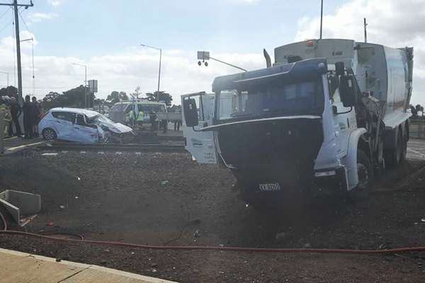 Article image for V/Line train collides with car and truck in Melbourne's outer-west