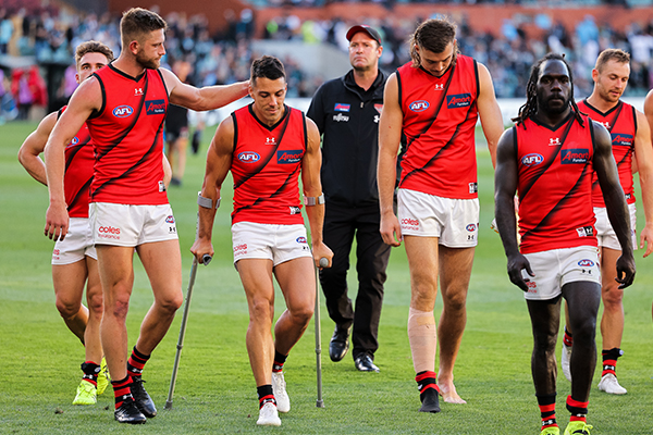 Article image for Essendon loses three key players to injury