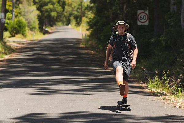 Article image for Why this man is skateboarding from Melbourne to Cairns