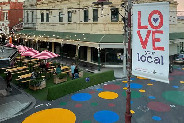 Article image for Why a Melbourne council has painted giant polka dots on a street