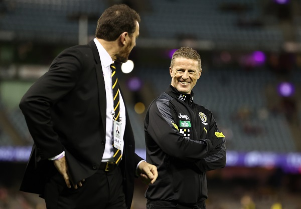 Article image for Richmond boss says Damien Hardwick has evolved amid 'challenges'