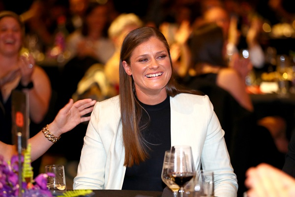 Article image for AFLW best and fairest says she is 'lucky' she came back to football