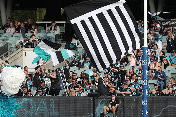 Article image for AFL knocks back Port Adelaide's 'prison bar' jumper request