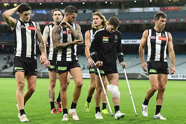 Collingwood star Taylor Adams set for lengthy injury lay-off
