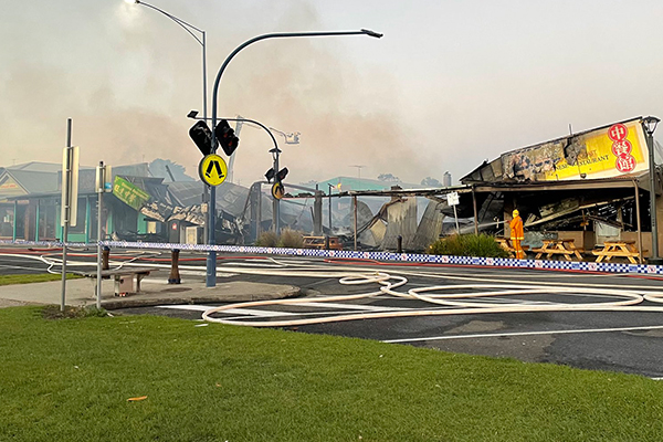 Article image for Apollo Bay restaurant fire causes massive damage