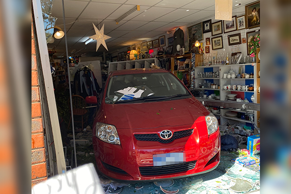 Article image for 'Couldn't believe our eyes': Car ploughs into Melbourne op shop
