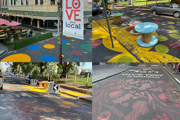 Article image for More 'traffic calming' artwork pops up on Melbourne roads