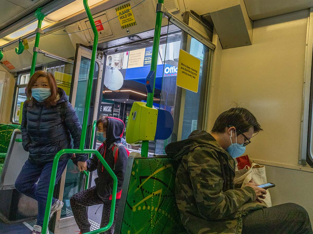 Article image for Mask blitz: Commuters who refuse to wear masks face $200 on-the-spot fines