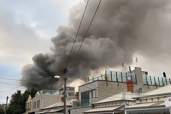 Article image for House fire sends plumes of black smoke across Richmond