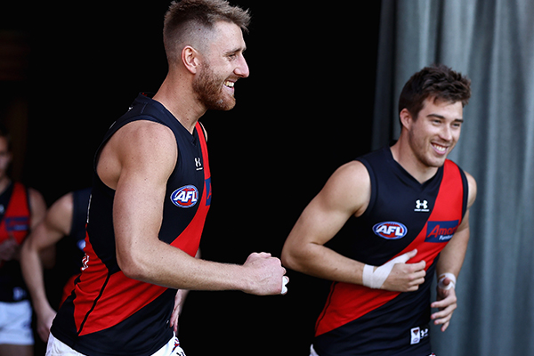 Article image for Why Dyson Heppell 'can't see' Zach Merrett leaving the Bombers