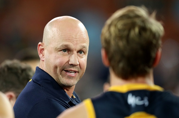 Article image for Adelaide coach's surprising view on controversial umpiring decision in win over Dees