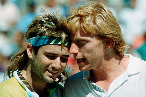 Article image for How Andre Agassi conquered Boris Becker's tennis serve