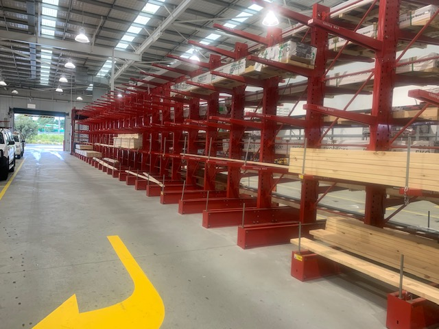 Hardware store in Carrum Downs with almost no timber left on shelves