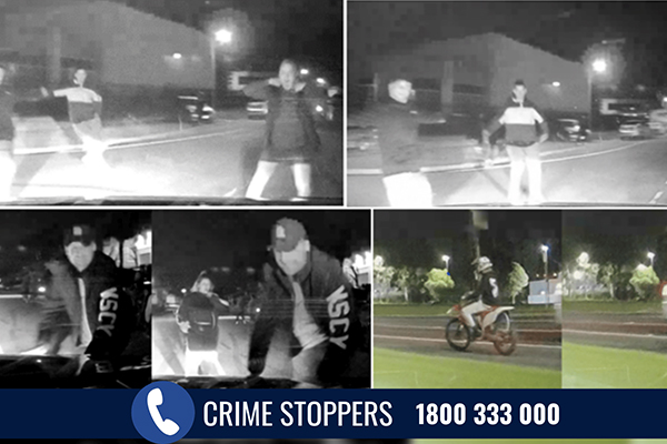 Article image for Hunt for hoon motorcyclist who did burnouts in front of oncoming traffic