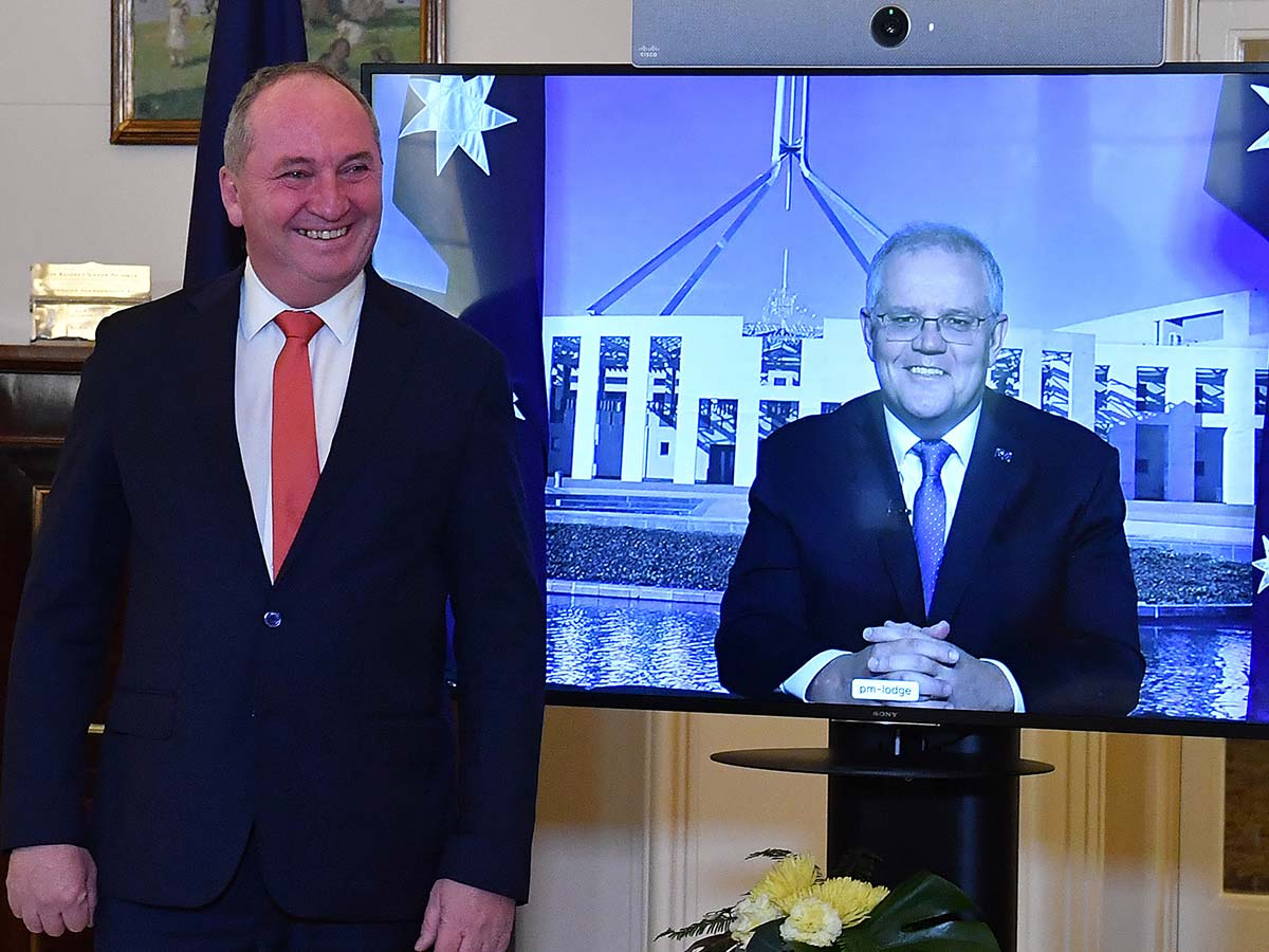 Article image for Why Barnaby Joyce's triumph poses a 'problem' for Scott Morrison