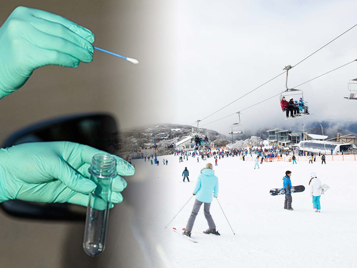 Article image for Neil Mitchell's theory about COVID-19 tests to visit the snow