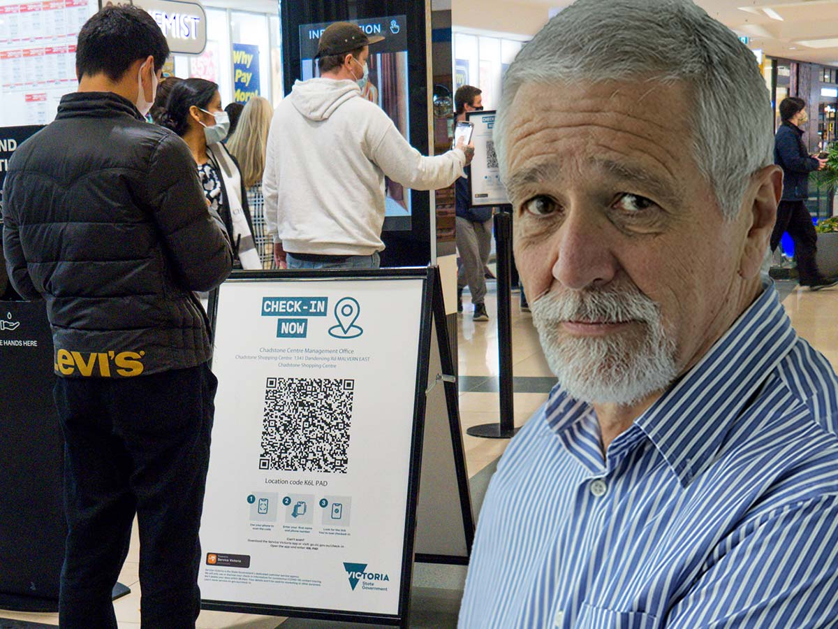 Article image for Neil Mitchell reacts to minister's comments on police accessing data from Victoria's check-in app