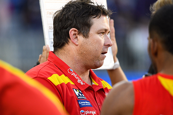 Article image for Gold Coast coach responds to reports he's fallen out with one of his assistants