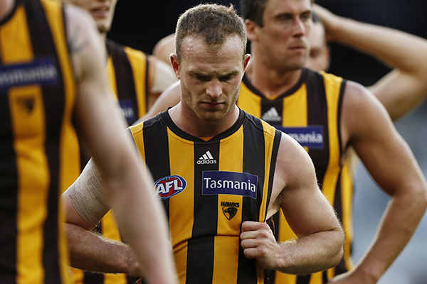 Article image for Hawthorn footy boss responds to Tom Mitchell trade reports