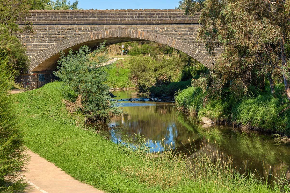 Merri Creek bridge in Coburg